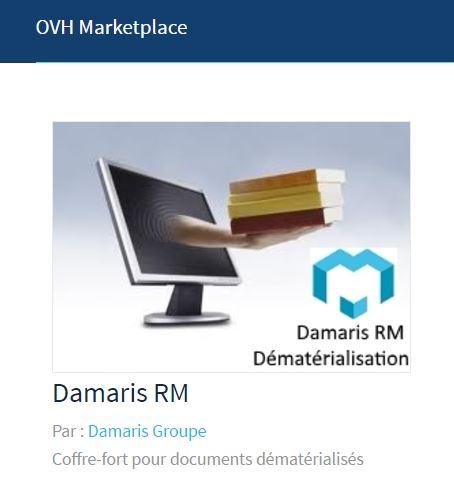 OVH Marketplace Damaris