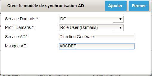 Damaris RM Synchronisation AD