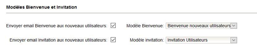 Email invitation nouveaux utilisateurs