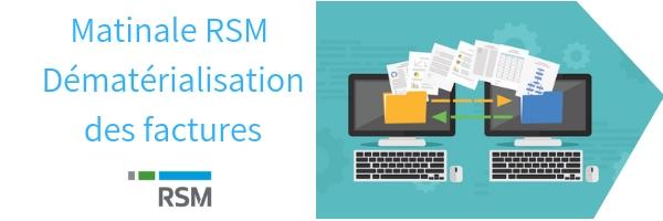 Matinale RSM Damaris Dématérialisation factures clients
