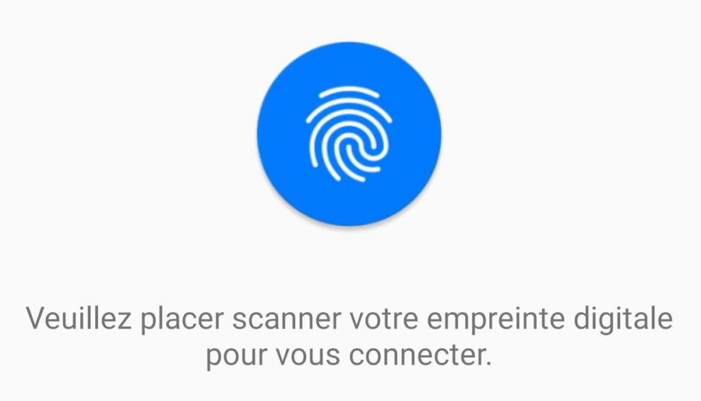 Damaris Mobile sécurisé lecteur empreinte