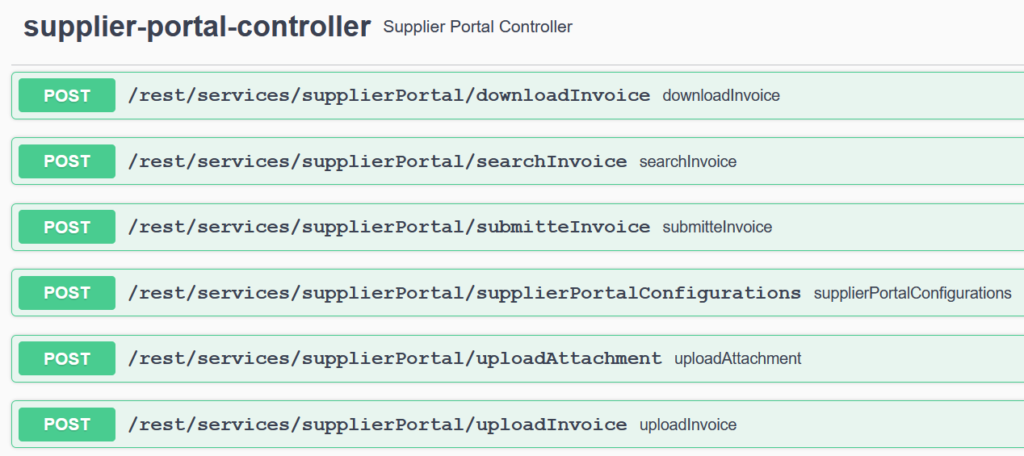 Web Service portail fournisseurs
