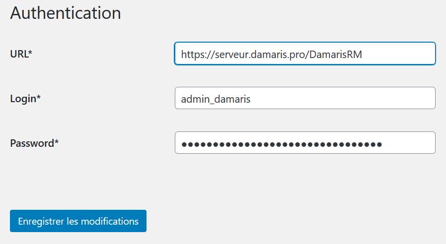 wordpress extension authentication